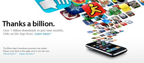 App Store un billon de descargas